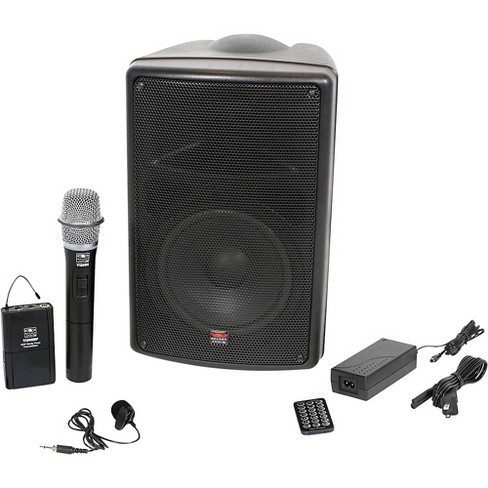 Galaxy Audio TQ8-24VHN Traveler Quest 8 TQ8 Battery Powered PA Speaker With 2 Receivers, One Lavalier and One Handheld Microphone - image 1 of 6