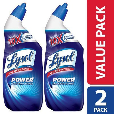 Lysol Toilet Bowl Cleaner - Power Twin Pack - 24oz/2pk