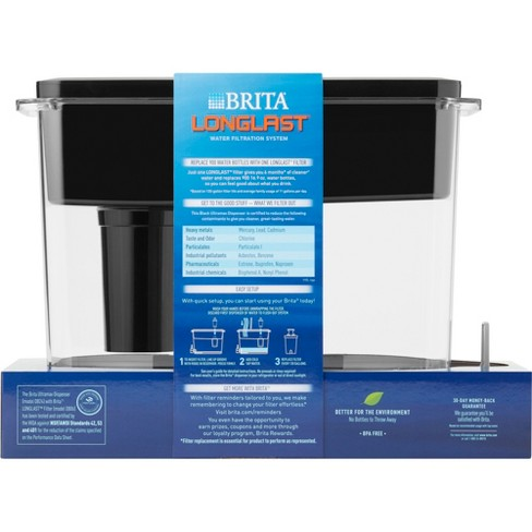 Brita Extra Large 18 Cup UltraMax Water Dispenser with 1 Longlast