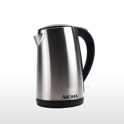 Aroma 1.7L Electric Kettle - Stainless Steel
