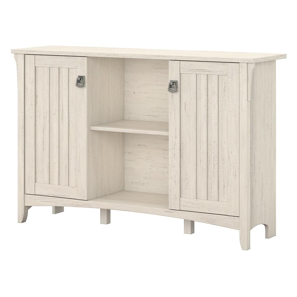 Salinas Storage Cabinet With Doors In Antique White - Bush Furniture