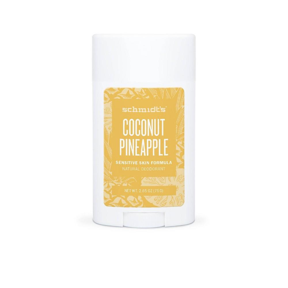 Image of Schmidt's Coconut Pineapple Aluminum-Free Natural Deodorant Stick for Sensitive Skin - 2.65oz