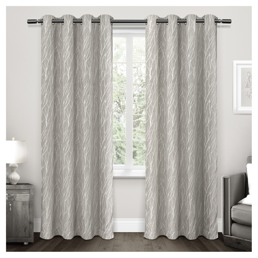 108 34 X54 34 Forest Hill Woven Blackout Curtain Panels Dark Gray Exclusive Home