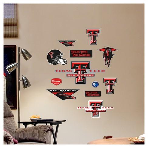 NCAA Texas Tech Red Raiders FatheadDecorative Wall Art Set 40\