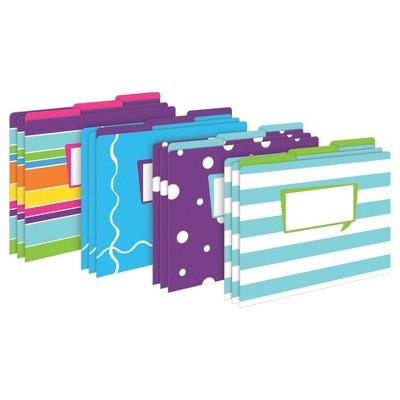 "Barker Creek File Folders, Multi Design, 9.5"" x 12"", 12ct - Happy"