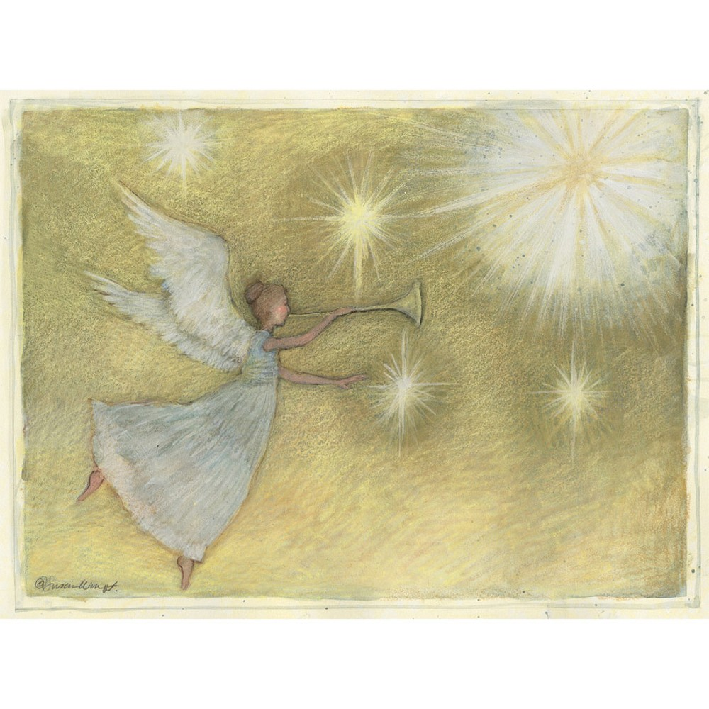 Image of 12ct Golden Angel Holiday Boxed Cards
