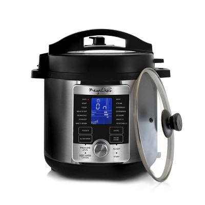 MegaChef 6qt Digital Electric Pressure Cooker - Silver