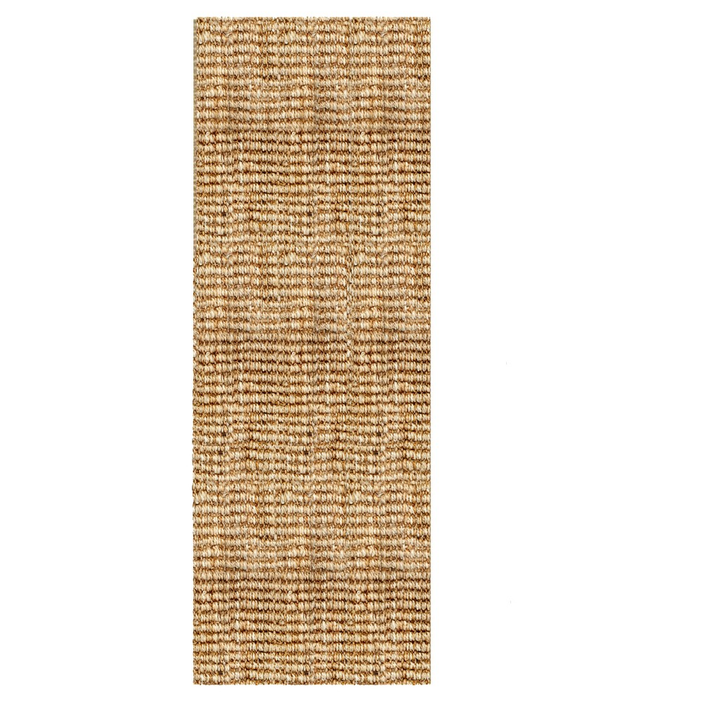 "Image of ""2'6""""x8' Solid Runner Light Brown - Anji Mountain, Size: 2'6""""x8' runner"""