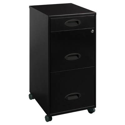 Lorell® Vertical Filing Cabinet, 18 , Box/File/File, Steel - Black