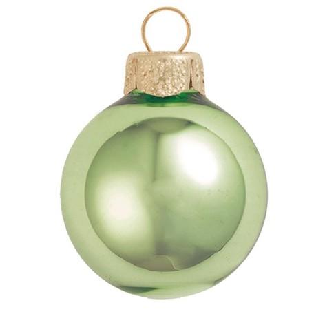 Northlight 4ct Shiny Glass Ball Christmas Ornament Set 4 75 Lime