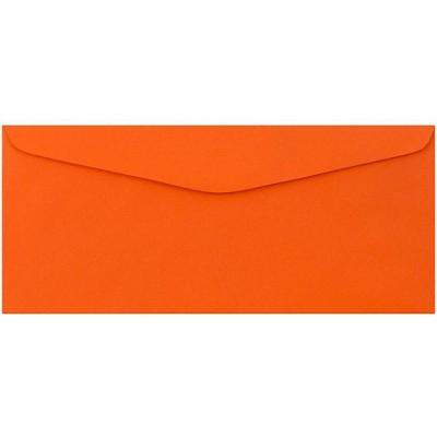 "JAM Paper 50pk 3 7/8""x8 7/8"" #9 Business Envelopes - Orange Recycled"
