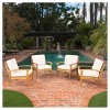 Peyton 4pk Acacia Wood PatioClub Chairs w/ Cushions - Christopher Knight Home - image 2 of 4