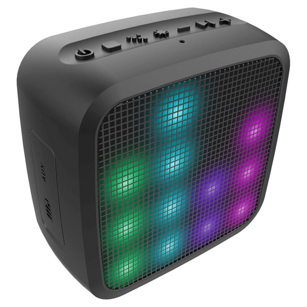 Hmdx Jam Trance Wireless Speaker - Black (HX-P460) Jam Trance Mini Led Speaker features a rubberized exterior and 4 Led light programs. Wireless speaker plays for up to 5 hours on a rechargeable lithium-ion battery. Jam Trance speaker includes an integrated speakerphone. Color: Black.