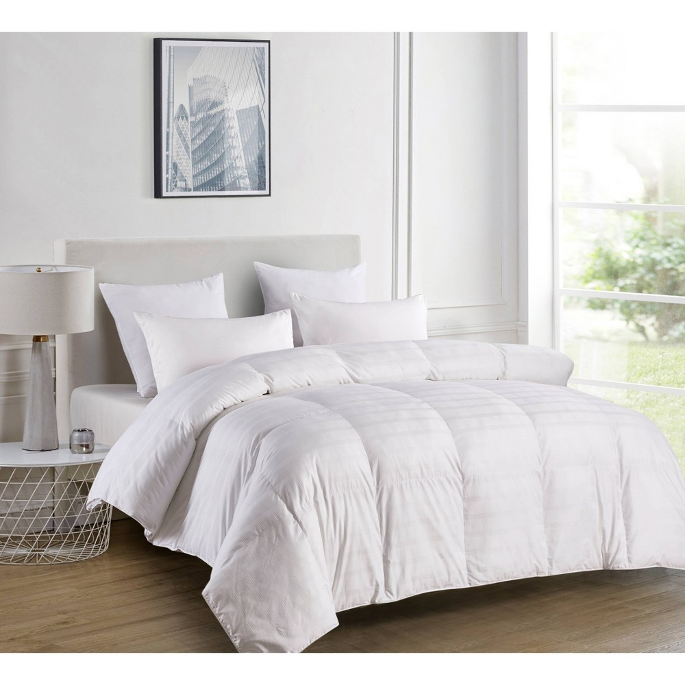 Image of King 600 Thread Count Duraloft Down Alternative Comforter White - Blue Ridge Home Fashions