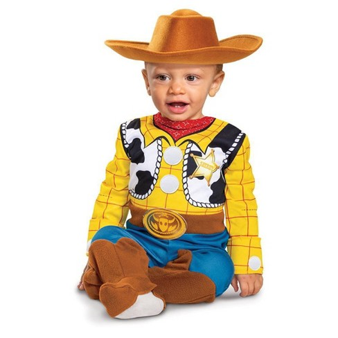 Toddler Deluxe Disney Toy Story Woody Halloween Costume Jumpsuit - image 1 of 4