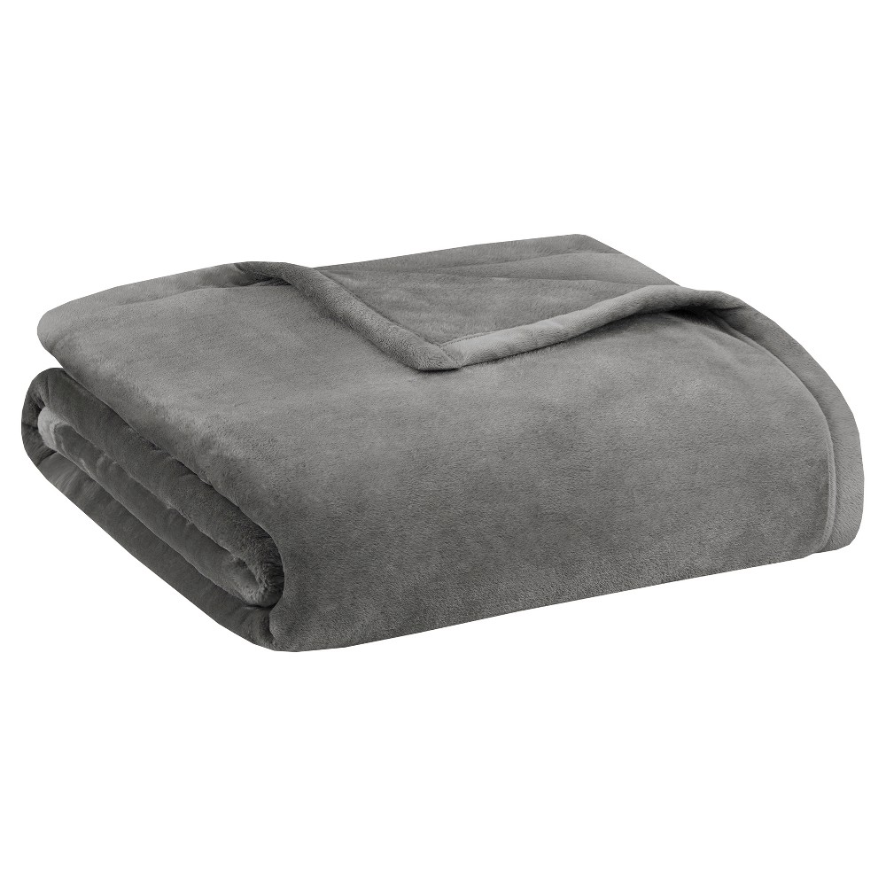 Ultra Premium Plush Blanket (Full/(Queen) Gray