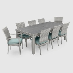Cannes 9pc Woven Dining Set with Cushions - RST Brands