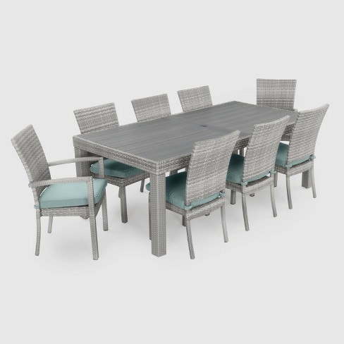 Cannes 9pc Woven Dining Set with Cushions - RST Brands - image 1 of 4