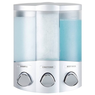 Better Living Products Euro Three Chamber Dispenser - Silver