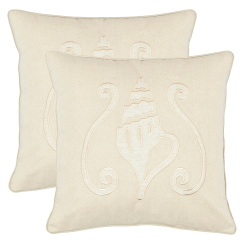 Sand Conch Shell Throw Pillow 2 Pack - Safavieh® - image 1 of 2