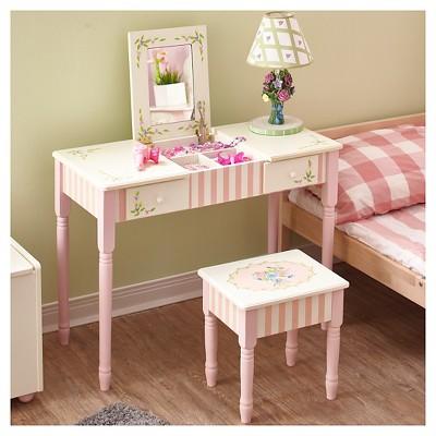 Fantasy Fields Bouquet Vanity Table U0026 Stool Set   Teamson : Target