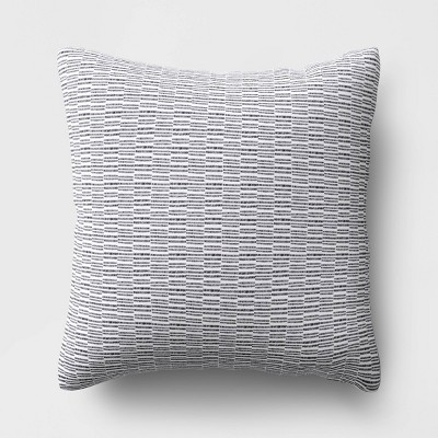 Offset Weave Throw Pillow DuraSeason Fabric™ Gray - Project 62™