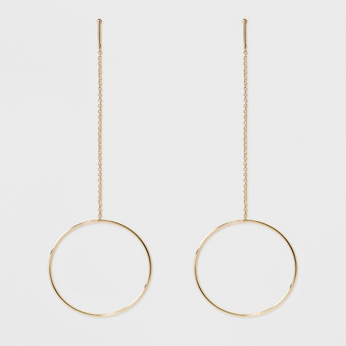 SUGARFIX by BaubleBar Drop with Hoops Earrings - Gold - image 1 of 3