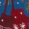The Holiday Mittens Square Throw Pillow Blue - Mina Victory - image 3 of 4