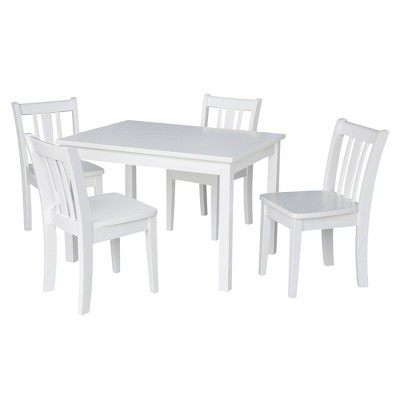 Kids' Table with 4 San Remo Juvenile Chairs White - International Concepts