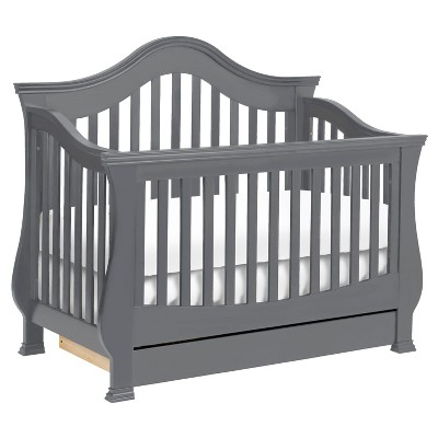 Million Dollar Baby Classic Ashbury 4-in-1 Convertible Crib with Toddler Bed Conversion Kit - Manor Gray