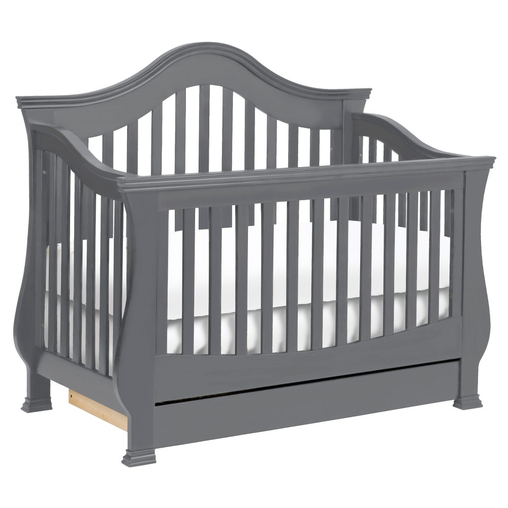Image of Million Dollar Baby Classic Ashbury 4-in-1 Convertible Crib with Toddler Rail - Manor Gray, Manor Grey/Grey