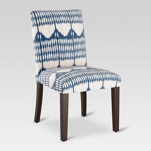 Excellent Parsons Dining Chair Tonal Blue Ikat Threshold Inzonedesignstudio Interior Chair Design Inzonedesignstudiocom