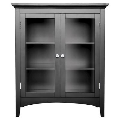 Elegant Home Fashions Madison Avenue Double Floor Cabinet - Dark Espresso