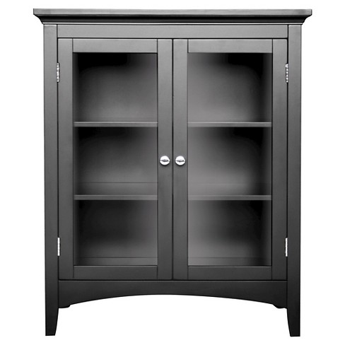 Elegant Home Fashions Madison Avenue Double Floor Cabinet - Dark Espresso - image 1 of 4