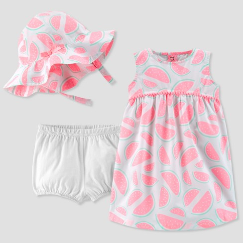 44dedf2fac65 Baby Girls' 2pc Watermelons Hat/Dress Set - Just One You™ Made by Carter's®  Teal/White