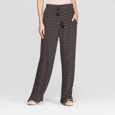 8751d9f6b92 Women s Mid-Rise Tie Waist Wide Leg Pants - Knox Rose™ Black   Target
