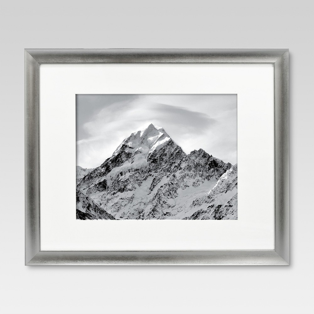 "Image of ""11"""" x 14"""" Matted Silver Frame - Threshold , Size: 11X14"""