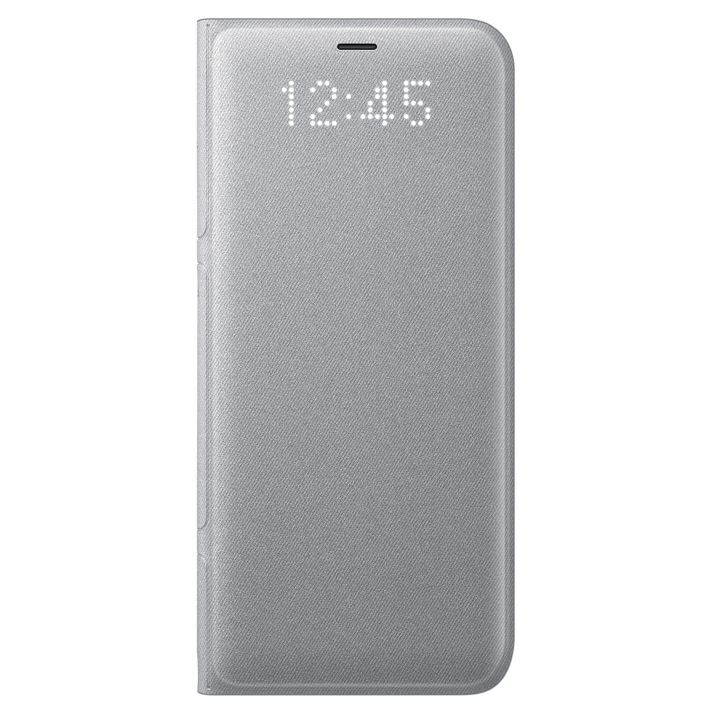 Samsung Galaxy S8 Led Wallet Cover - Silver, Light Silver