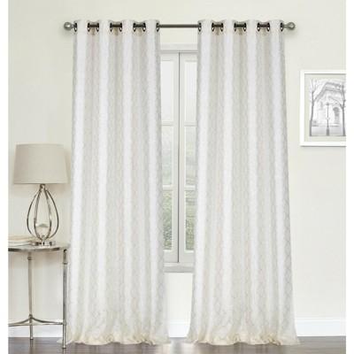 GoodGram Whittier Metallic Sparkle Semi Sheer Grommet Curtain Panels