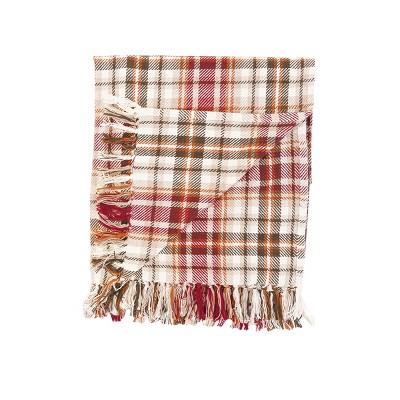 "C&F Home Samuel Plaid Woven 50"" x 60"" Throw Blanket"