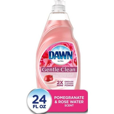 Dawn Ultra Gentle Clean Dishwashing Liquid Dish Soap - Pomegranate & Rose Water Scent - 24 fl oz