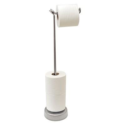 Freestanding Toilet Tissue Roll Holder 4 Roll Satin - Totally Bath®