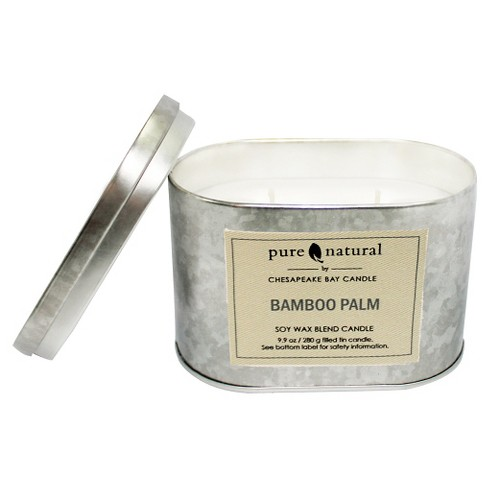 Tin Container Candle Bamboo Palm - Pure & Natural by Chesapeake Bay Candle® - image 1 of 1