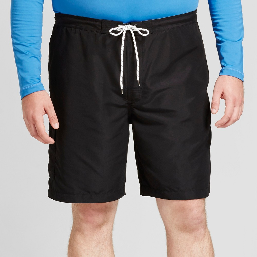 Men's Big & Tall Board Shorts With Side Pocket 9 - Goodfellow & Co Black 2XB