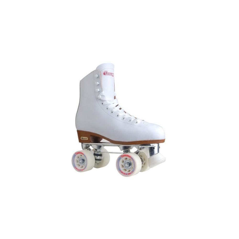Women's Chicago Deluxe Leather Rink Skates - 5, White