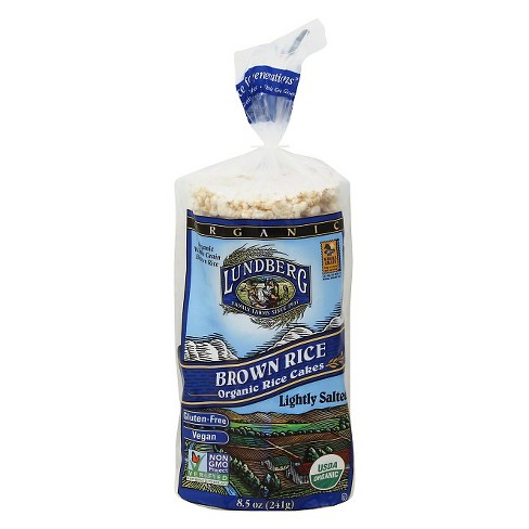 Lundberg Brown Rice Lightly Salted Organic Rice Cakes - 12ct / 8.5oz - image 1 of 1