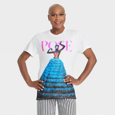 Pride Gender Inclusive Adult 'Pose' Short Sleeve Graphic T-Shirt - White