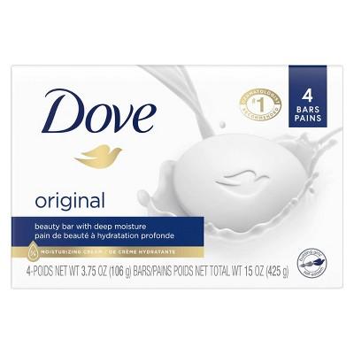 Dove White Deep Moisture Beauty Bar Soap - 4pk - 3.75oz each