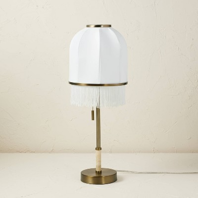 Euclid Fabric Table Lamp with USB (Includes LED Light Bulb)Cream - Opalhouse™ designed with Jungalow™