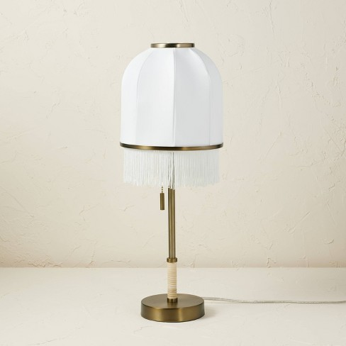Euclid Fabric Table Lamp with USB (Includes LED Light Bulb) Cream - Opalhouse™ designed with Jungalow™ - image 1 of 4